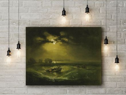 William Turner: Fishermen at Sea. Fine Art Canvas